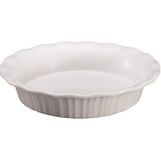 Corningware 1117314 Pie Plate, French White, 9""