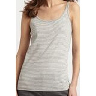 Eileen Fisher NEW Gray Womens Size XS Ministriped Scoop-Neck Long-Tank