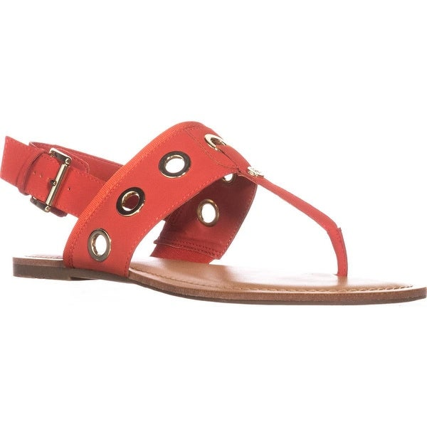Tommy Hilfiger Lerry2 Flat Sandals, Orange Multi