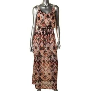 Speechless Womens Juniors Maxi Dress Chiffon Printed