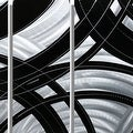 Statements2000 Black / Silver Contemporary Metal Wall Art Painting by Jon Allen - Crossroads - Thumbnail 4