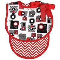 Raindrops Unisex Baby Camera Bib And Burp Set, Red - One size