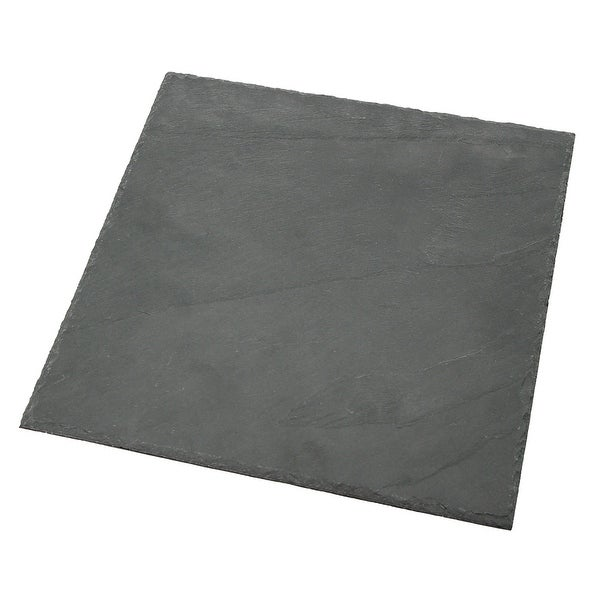 """Creative Home Genuine Slate 12"""" x 12"""" Square Food, Cheese, Dessert Serving Board, Serving Platter. Opens flyout."""