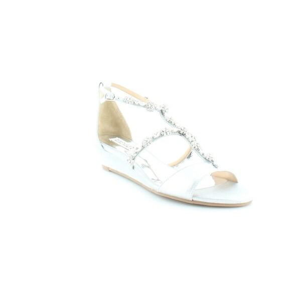 Badgley Mischka Terry II Women's Sandals & Flip Flops Silver - 8.5