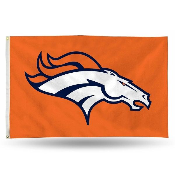 3' x 5' Orange and White NFL New Denver Broncos Rectangular Banner Flag - N/A
