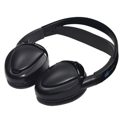 Audiovox mtghp2ca audiovox dual channel wireless fold flat headphones auto shut off