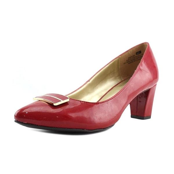Andrew Geller Oaklee Women Pointed Toe Synthetic Red Heels