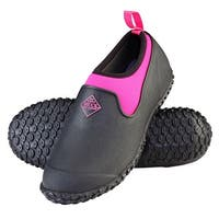 Muck Boot's  Womens Muckster II Boot Low Black/Pink w/ Airmesh Linings - Size 10