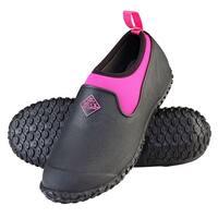 Muck Boots Black/Pink Women's Muckster II Low Boot w/ 4mm CR Flex Foam - Size 7