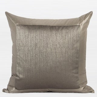 "G Home Collection Luxury Gray Gold Frame Splicing Pillow 20""X20"""