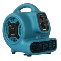 XPOWER P-230AT 1/5HP, 800 CFM, 3 Speed Mini Air Mover with 3 Hour Timer - Blue