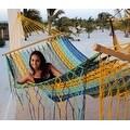 Sunnydaze American Style Mayan Hammock with Spreader Bar, Multicolor - Thumbnail 1