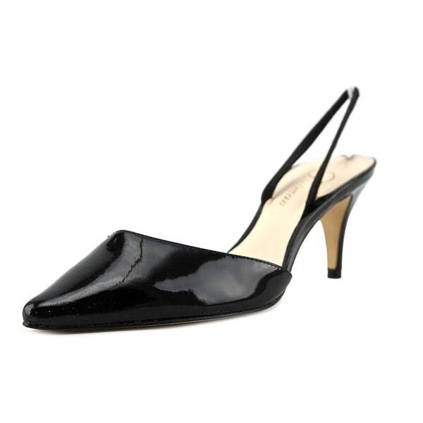 Delman Laci Women Pointed Toe Patent Leather Slingback Heel