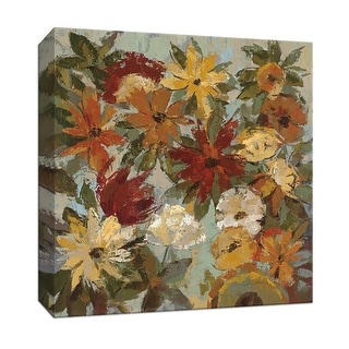 """PTM Images 9-153371  PTM Canvas Collection 12"""" x 12"""" - """"Expressive Garden I"""" Giclee Flowers Art Print on Canvas"""