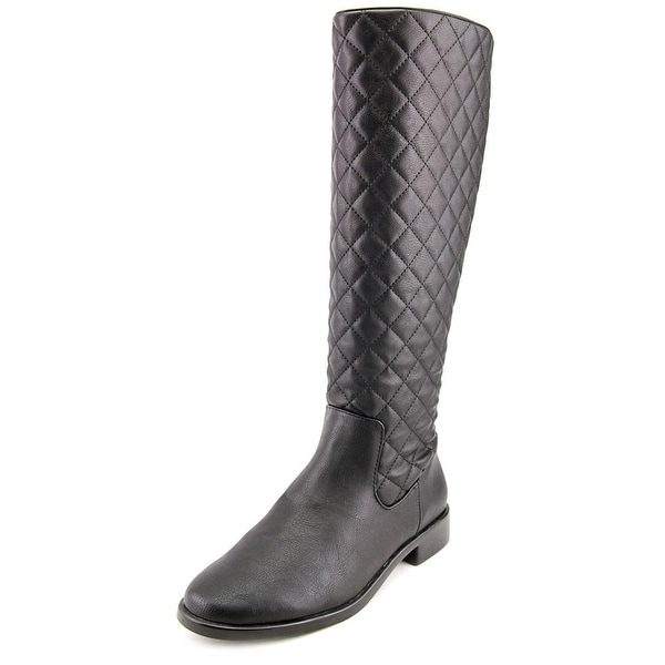 Aerosoles Establish Women Round Toe Synthetic Black Knee High Boot
