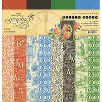 "Graphic 45 Double-Sided Paper Pad 12""X12"" 16/Pkg-Little Women, 8 Designs/2 Each"