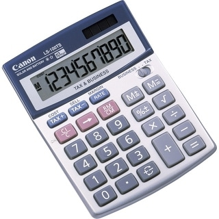 Canon 5936A028 Canon LS-100TS Pocket Calculator - 10 Digit(s) - LCD - Battery/Solar Powered - 1.3 x 4.1