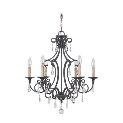 Jeremiah Lighting 38926 Bentley 6 Light Candle Style Chandelier - 22 Inches Wide