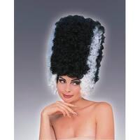 Lady Frankenstein Monster Bride Adult Costume Wig - Black