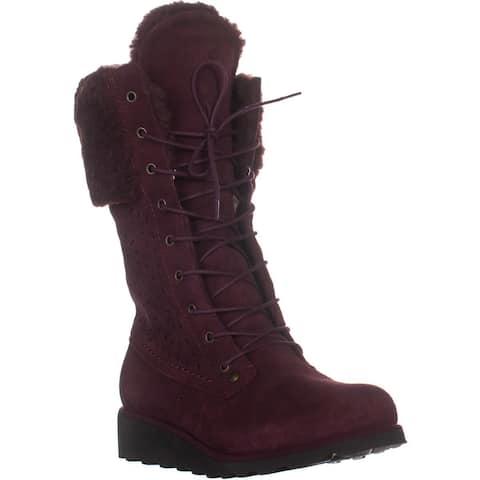 Bearpaw Kylie Mid-Calf Snow Boots, Wine - 10 US / 41 EU