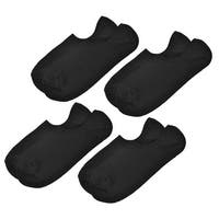 Unique Bargains Men Stretch Girth Sport Ankle Sport Boat Socks Black 4 Pairs