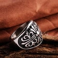 Vienna Jewelry Stainless Steel Shield Emblem Ring - Thumbnail 1