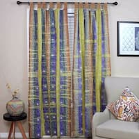 Handmade Celtic Batik Tie Dye Tab Top 100% Cotton Curtain Drape Panel - 44 x 60 inches/44 x 88 inches