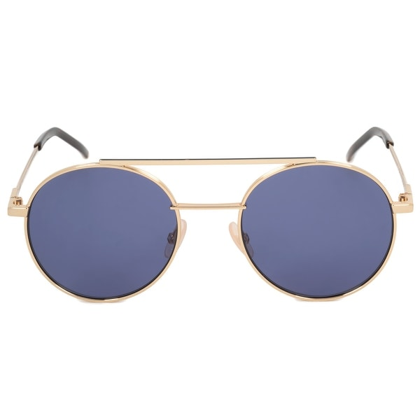 ea50335a053a Shop Fendi Air Round Sunglasses FF0221S 000 KU 52 - Free Shipping ...