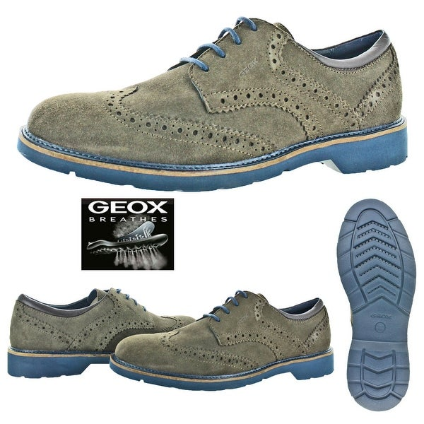 Shop Geox Garret Men's Brogue Wingtip Oxford Dress Shoes