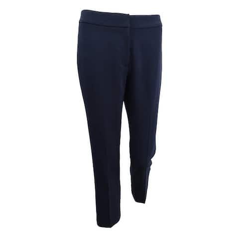Tahari ASL Women's Straight-Leg Pants - Navy