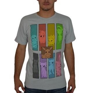 Pokemon Eeveelutions Men's Grey T-Shirt