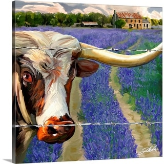 """Texas BB"" Canvas Wall Art"