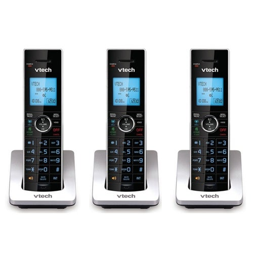 VTech DS6072 (3-Pack) Additional 2-Line Handset/Charger with Backlit LCD Display