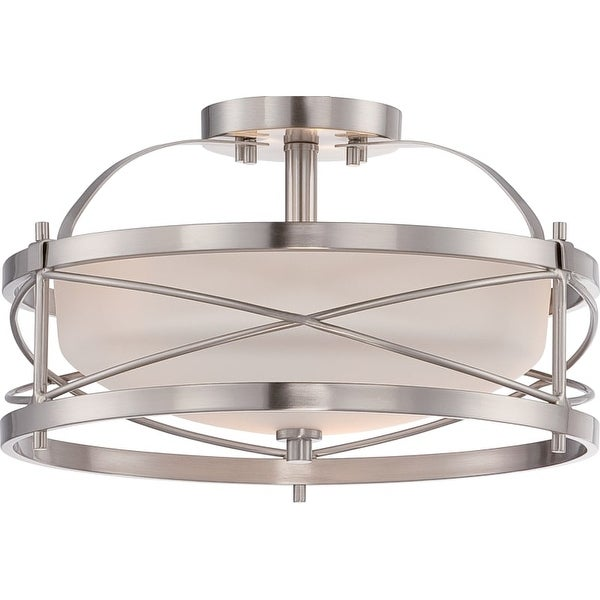 "Nuvo Lighting 60/5331 Ginger 2 Light 14"" Wide Semi-Flush Bowl Ceiling Fixture"