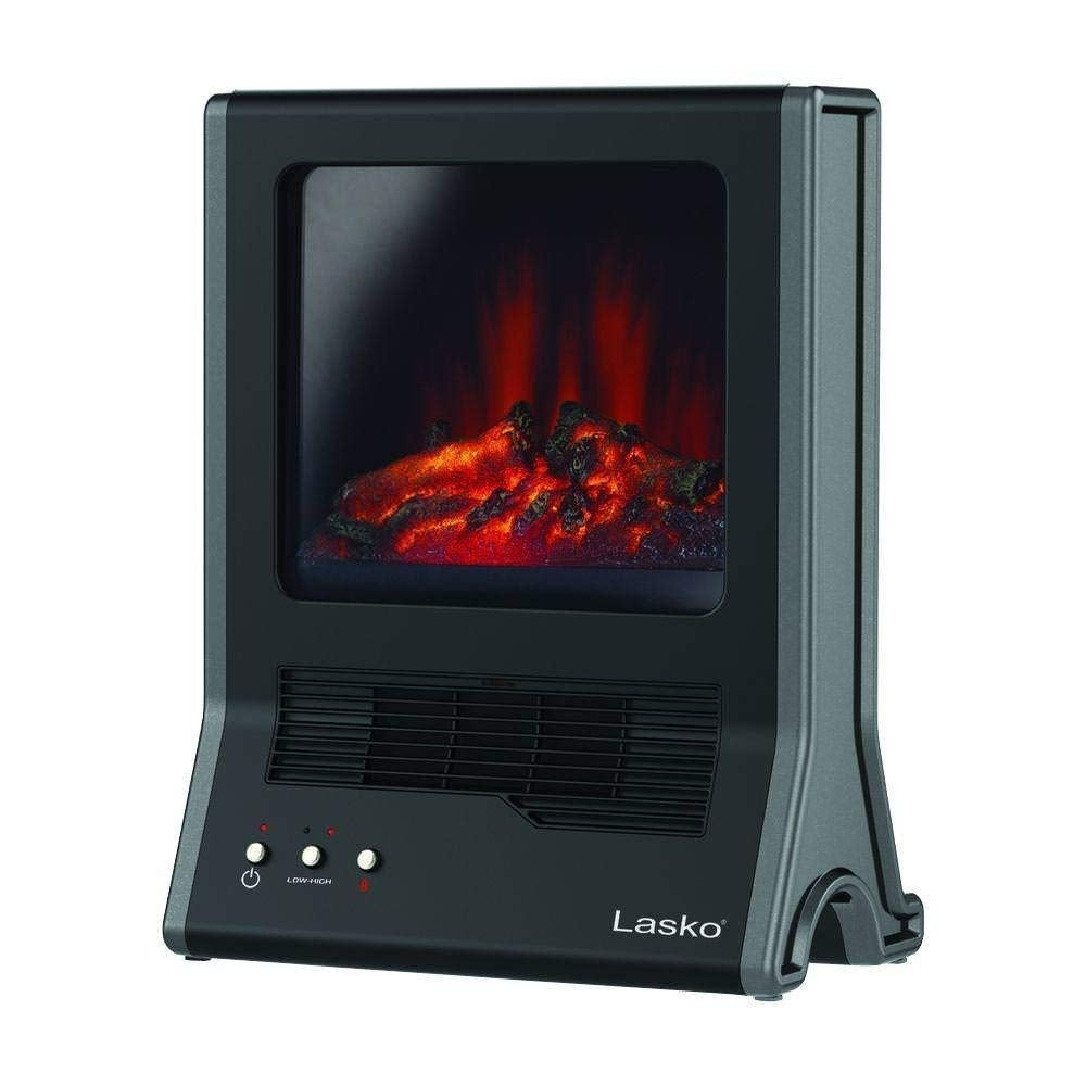 Lasko Products Ca20100 1500-Watt Ultra Ceramic Fireplace Portable Heater - Black