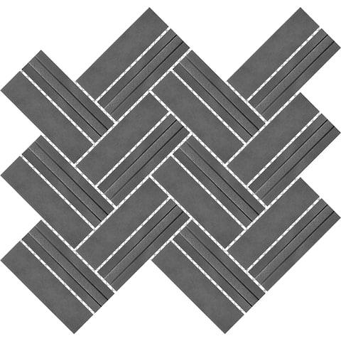 Imperial Herringbone Pewter Metal Mosaic Tile (Pack of 4 Sheet /Box)