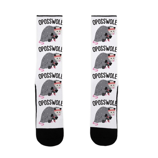 LookHUMAN Oposswole Opossum US Size 7-13 Socks