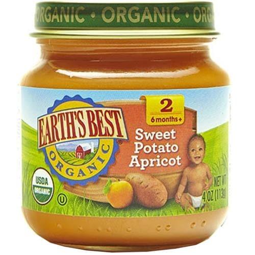 Earth's Best - Organic Sweet Potato Apricot ( 12 - 4 OZ)