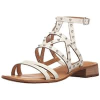 Franco Sarto Womens Alyssa Leather Open Toe Casual Strappy Sandals