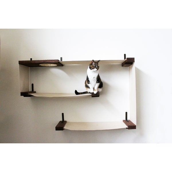 fabric cat maze handcrafted canvas and wood wall mounted. Black Bedroom Furniture Sets. Home Design Ideas