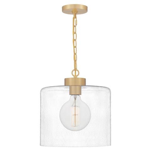 Quoizel Abner Steel 1-light Mini Pendant
