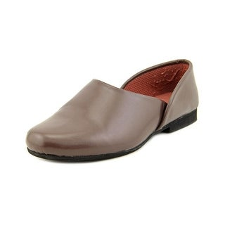 Slippers International Opera Men 3E Round Toe Leather Brown Slipper