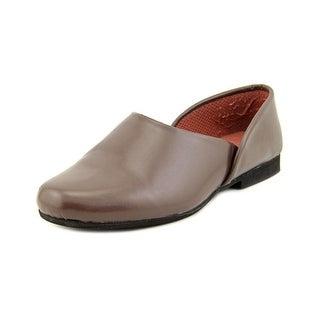 Slippers International Opera Men 5E Round Toe Leather Brown Slipper
