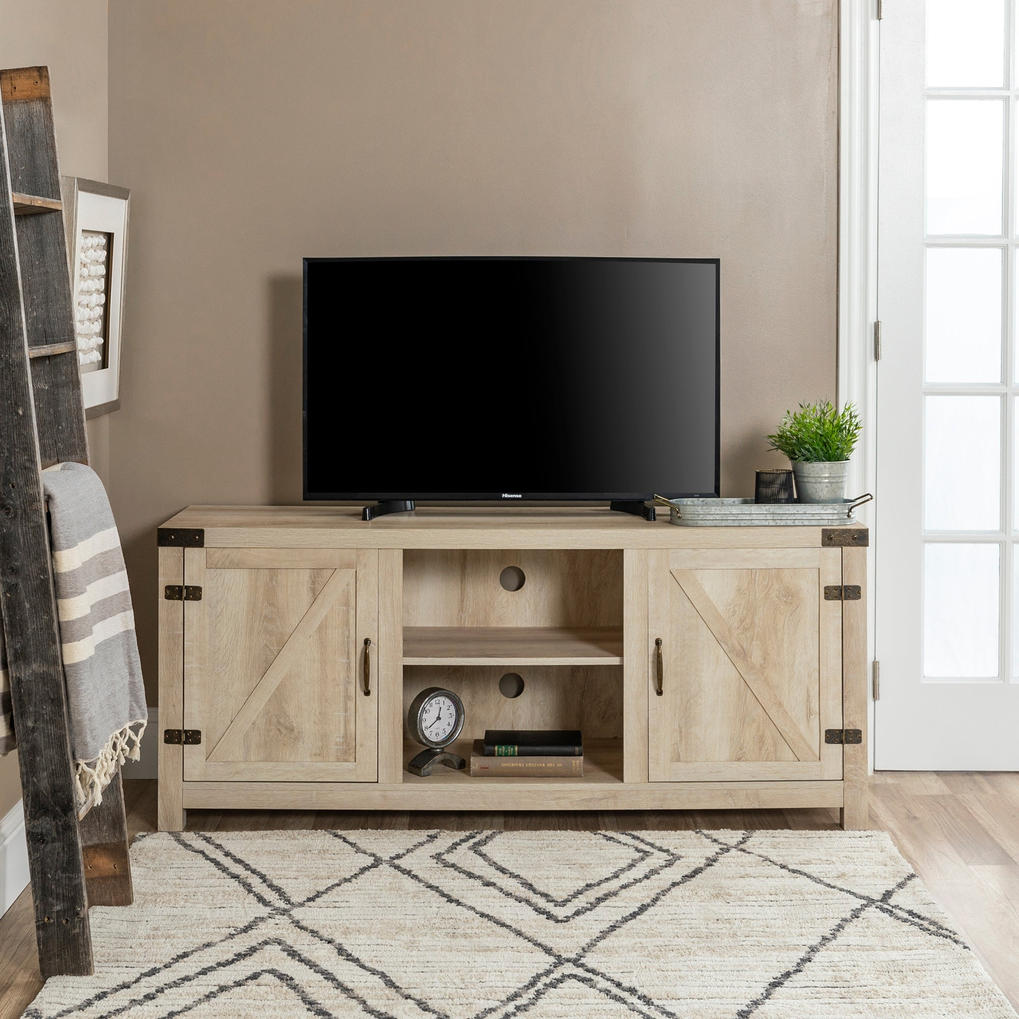 The Gray Barn Firebranch 58 Inch Barn Door Tv Console On Sale Overstock 20559235