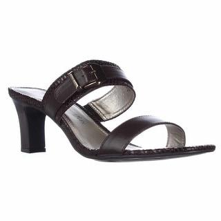 Anne Klein Nydia Slip-On Mule Sandals - Dark Brown