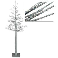 4' Silver Glitter Metallic Artificial Christmas Display Tree