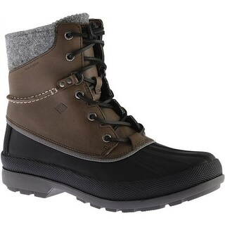 Sperry Top-Sider Men's Cold Bay Duck Boot with Vibram Arctic Grip Grey Waterproof Leather
