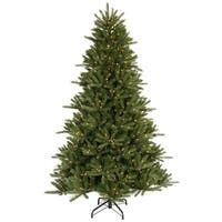 6.5' Pre-Lit Vermont Fir Instant Shape Artificial Christmas Tree - Clear Lights - green