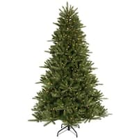 7.5' Pre-Lit Vermont Fir Green Instant Shape Artificial Christmas Tree - Clear Lights