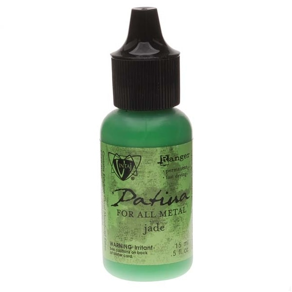 Vintaj Patina Opaque Permanent Ink - Jade Green - 0.5 Ounce Bottle